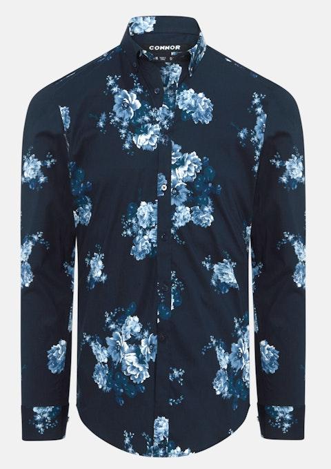 Navy Paulo Slim Stretch Shirt