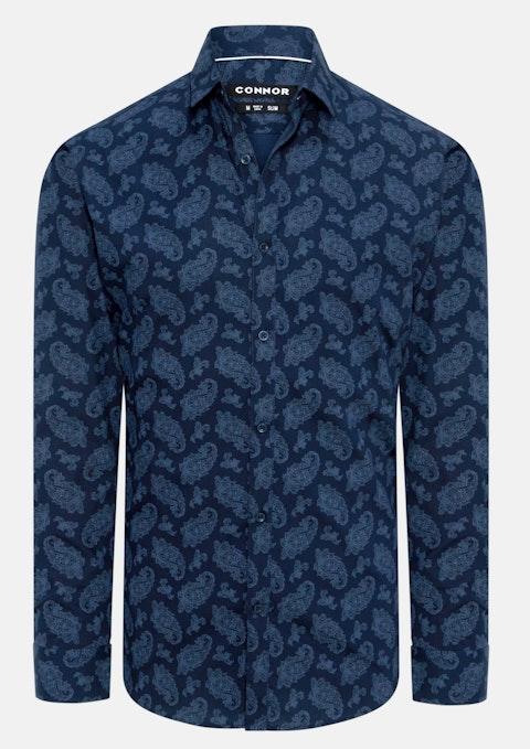 Navy Highbury Slim Shirt