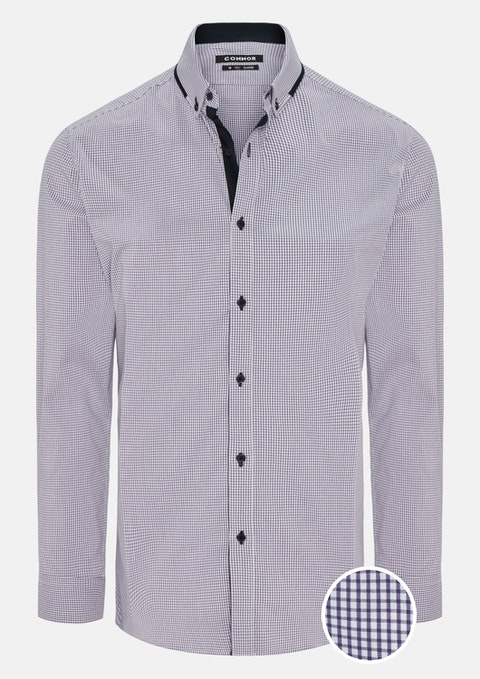 Lilac Gosport Stretch Shirt