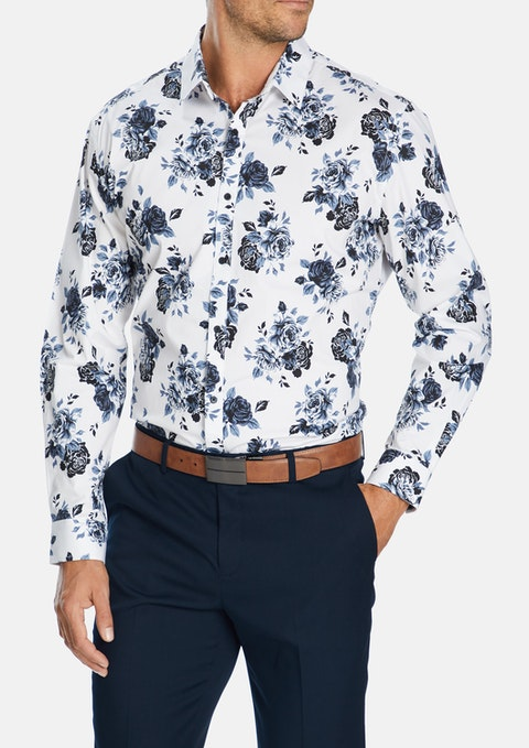White Carlos Stretch Shirt