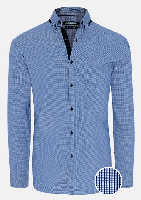 Blue Claude Slim Stretch Shirt