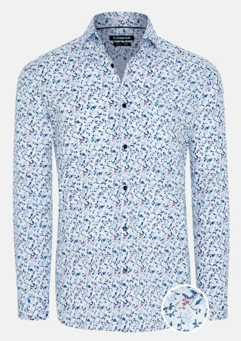 White Declan Slim Stretch Shirt