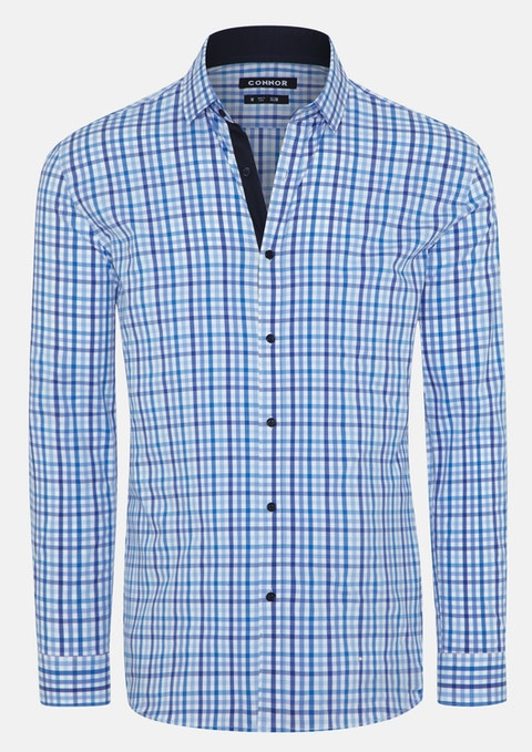 Blue Bladen Slim Stretch Shirt