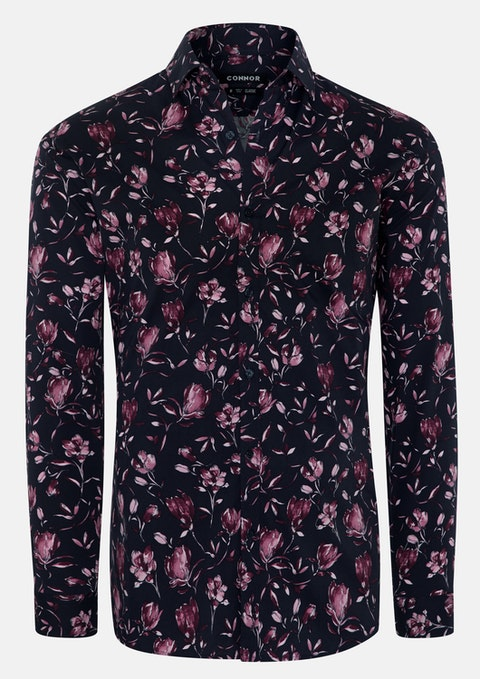 Dusty Pink Isaac Stretch Shirt