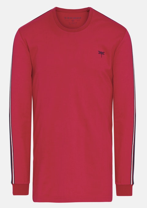 Red Bradbury Long Top