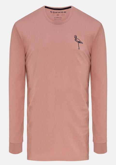 Dusty Pink Heston Long Top