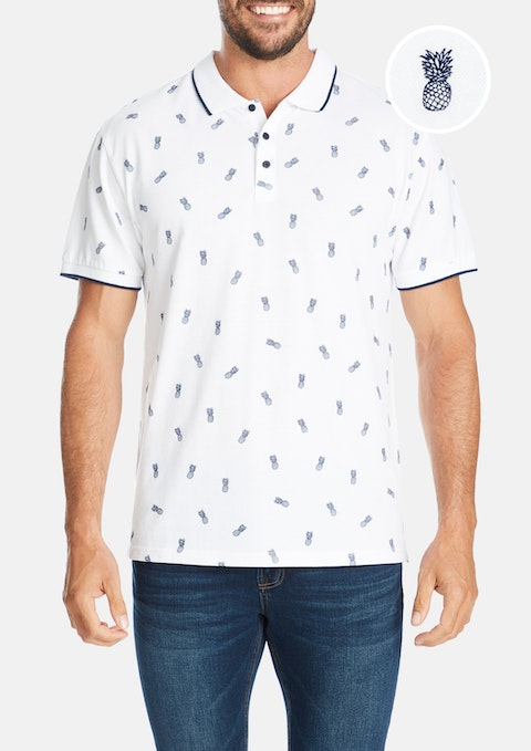 White Pineapple Polo