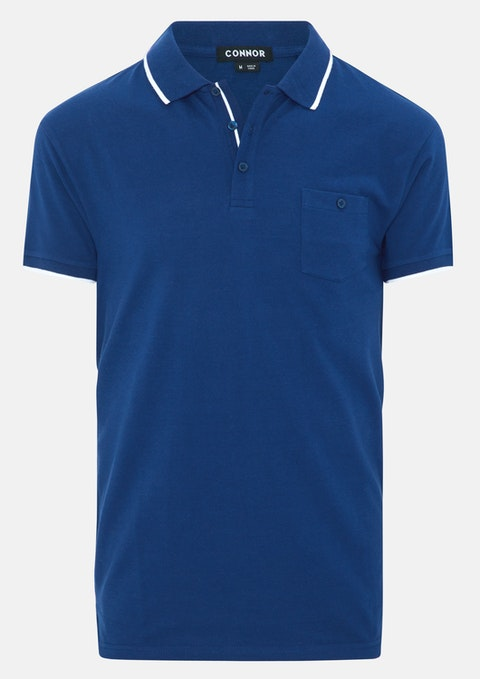 Blue Blackburn Polo