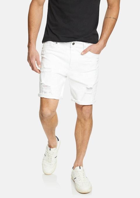 White Felton Denim Short