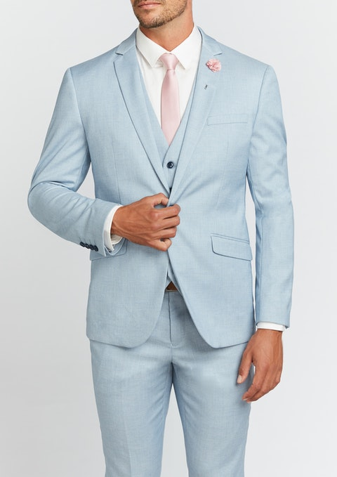 Light Blue Tribeca Slim Suit Jacket