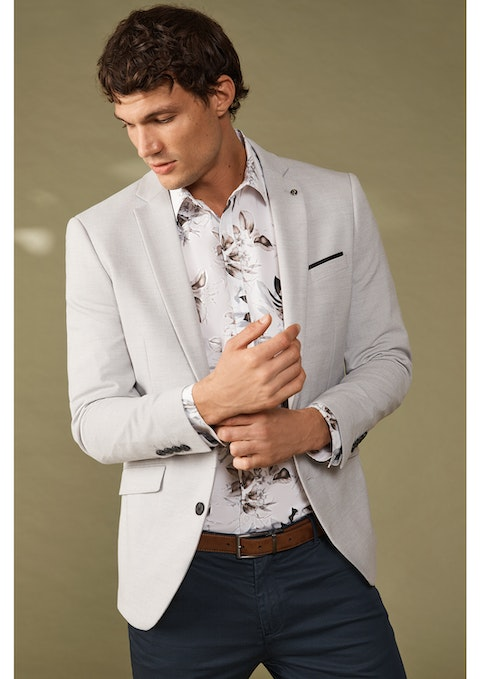 Silver Mayfield Slim Blazer