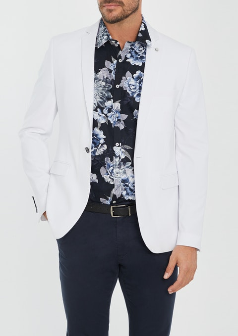 White Lincoln Skinny Blazer