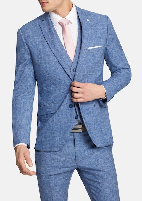 Blue Seattle Slim Suit Jacket