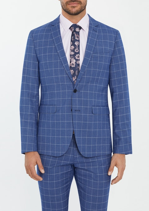 Blue Saville Skinny Suit Jacket