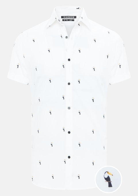 White Toucan Slim Shirt