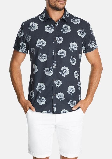 Charcoal Roses Slim Shirt