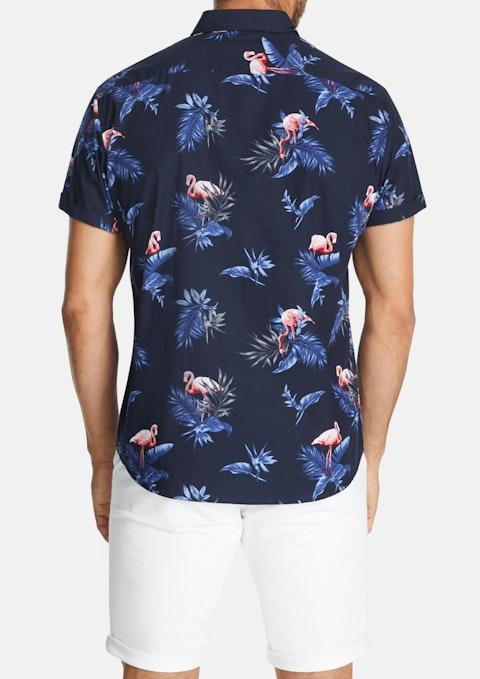Blue Dave Flamingo Shirt