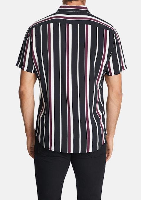 Wine Kramer Stripe Print Shirt