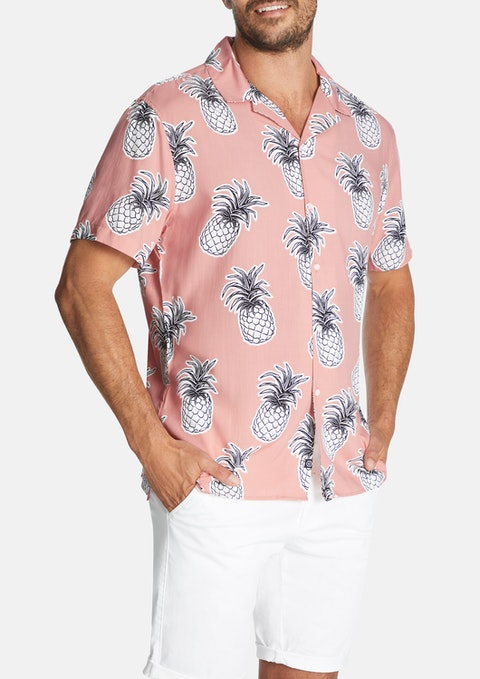 Pink Big Pineapple Shirt