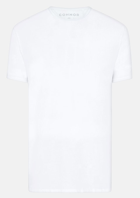 White Essential Scoop Tee