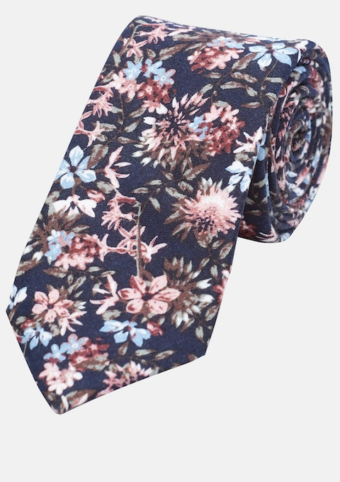 Dusty Pink Floral 6cm Tie