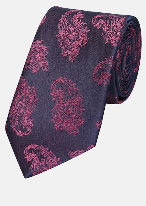 Red Paisley 7cm Tie