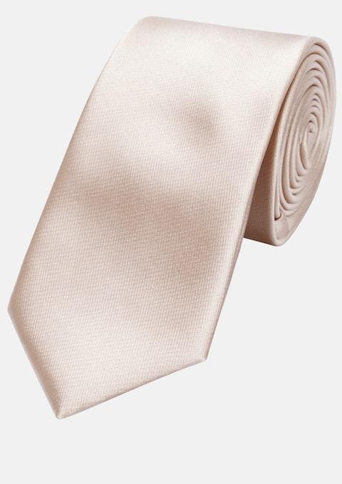 Peach Plain 6cm Tie