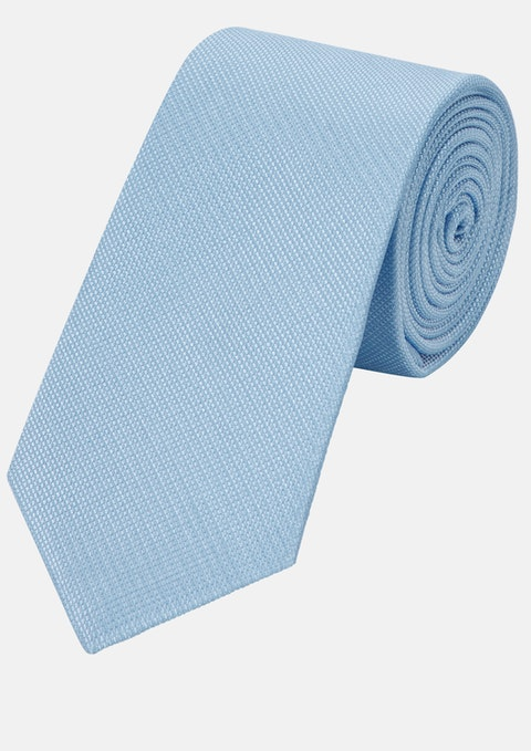 Light Blue Plain 6cm Tie