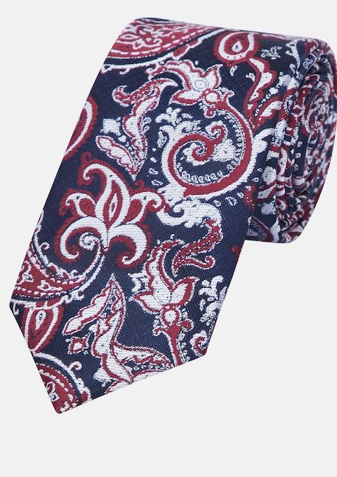 Red Jacquard 6cm Tie