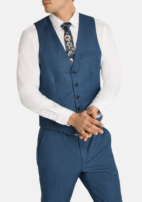 Blue Formosa Stretch Waistcoat