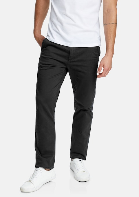 Black Hastings Stretch Straight Chino