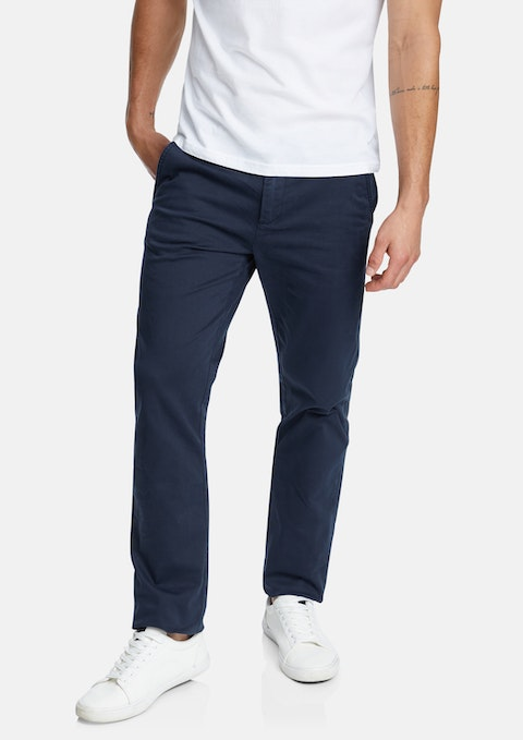 Navy Hastings Stretch Straight Chino