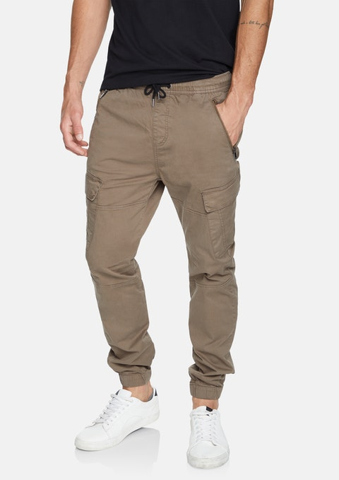 Taupe Coberg Cuffed Stretch Cargo
