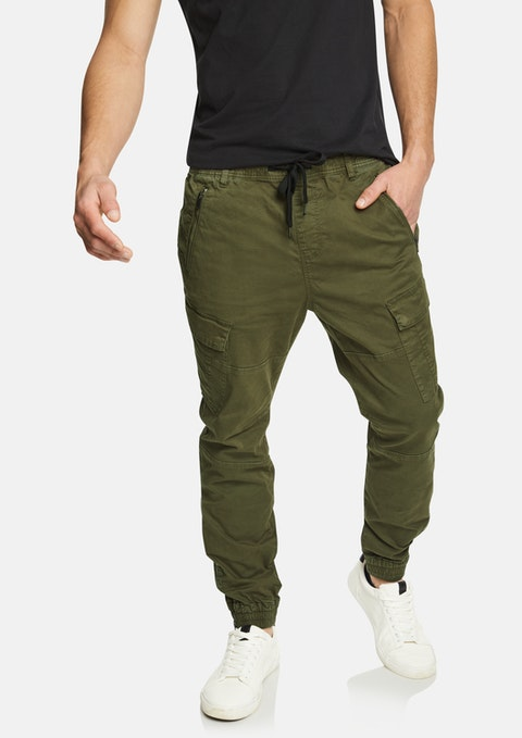 Military Devin Zip Hem Cuffed Cargo