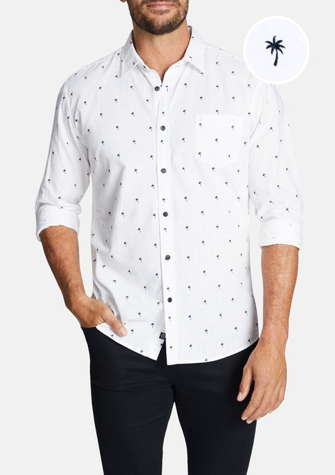 White Palms Slim Casual Shirt