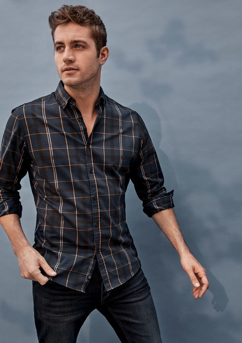 Navy Corbit Casual Shirt