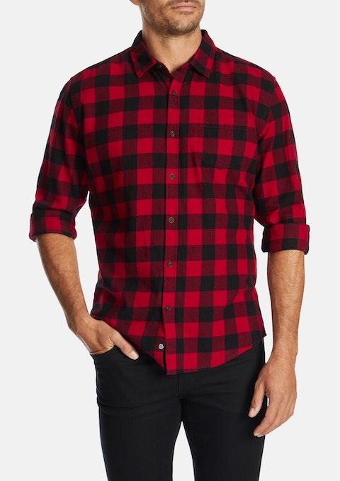 Red Michael Slim Shirt