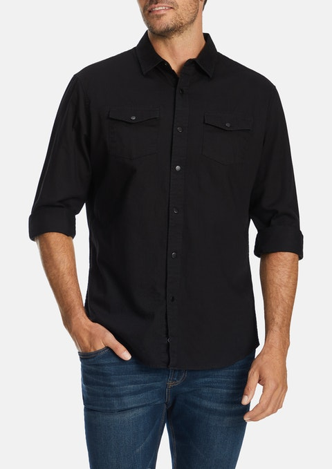Black Bateman Casual Shirt