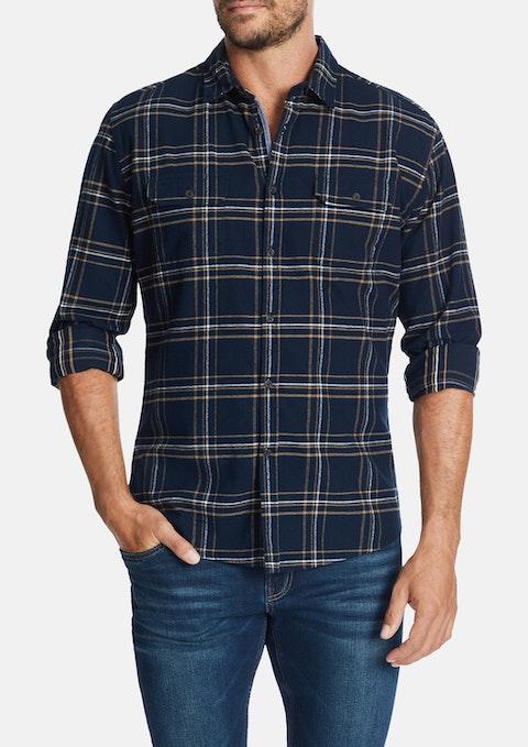Navy Bolton Slim Shirt