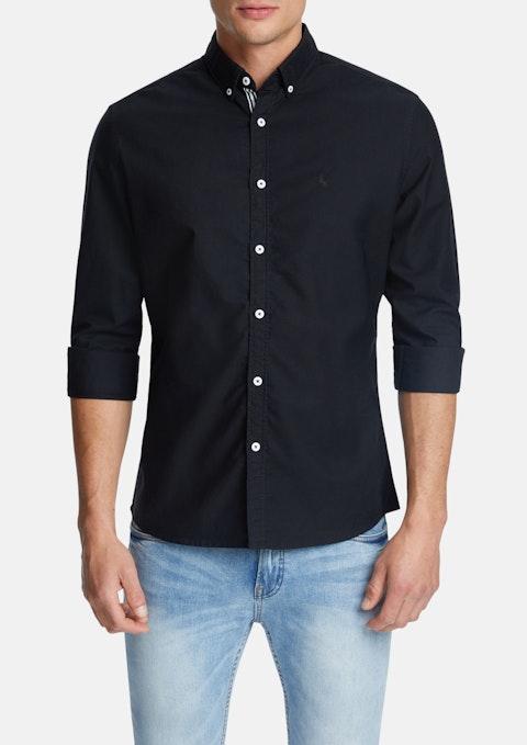 Black Chapman Classic Casual Shirt