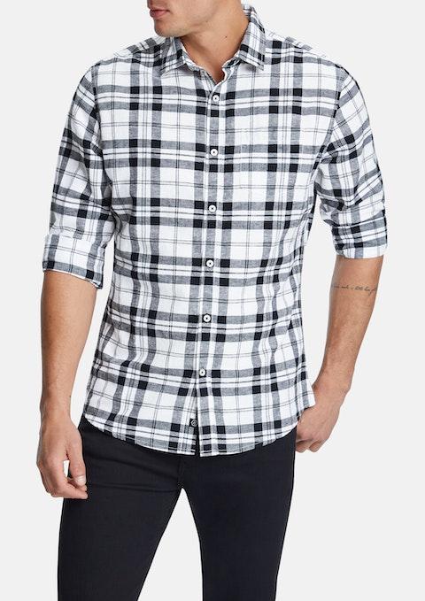 White Webber Linen Blend Casual Shirt