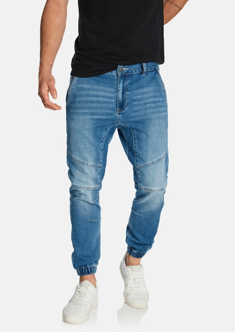 Blue Cojack Denim Jogger