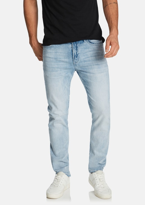 Light Blue Leno Slim Jean
