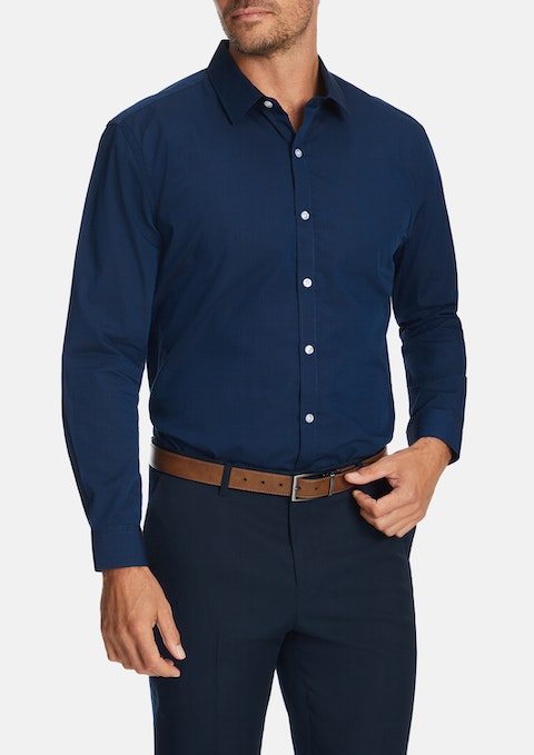 Navy Horizon Slim Dress Shirt
