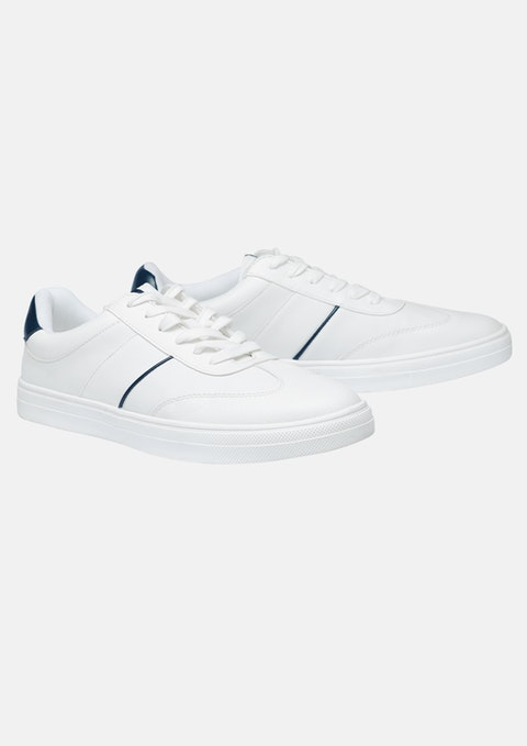White Sideways Sneaker