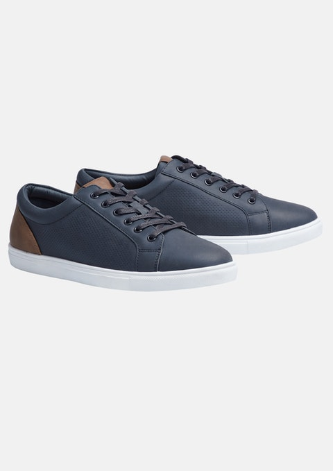 Navy Manny Shoe