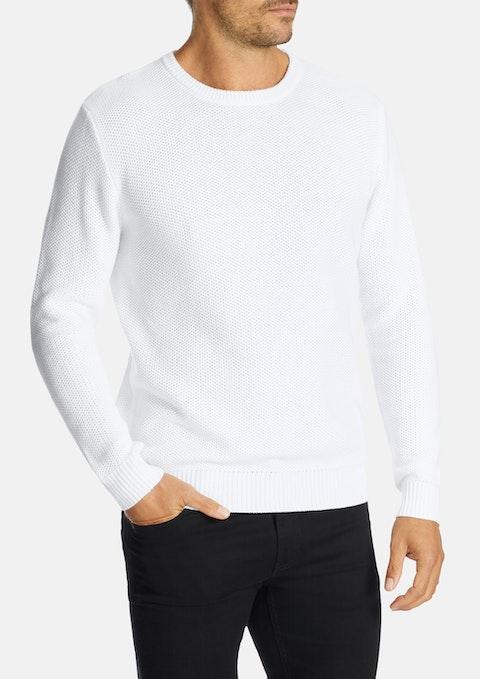 White Portsea Knit