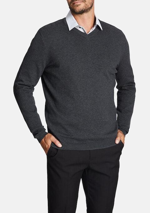 Charcoal Federer Knit