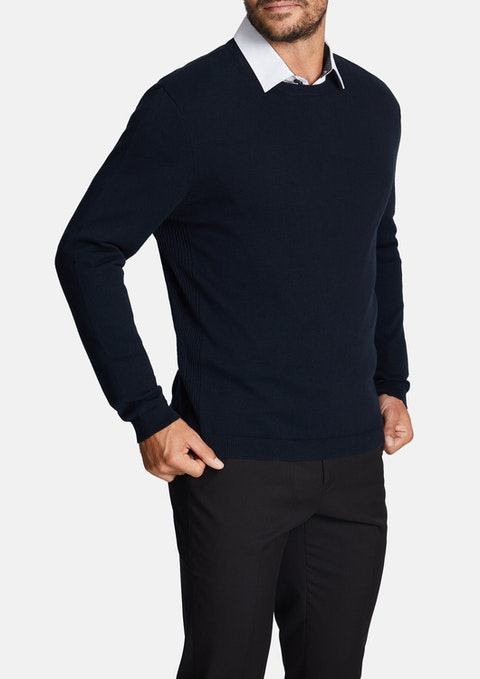 Navy Rodger Knit