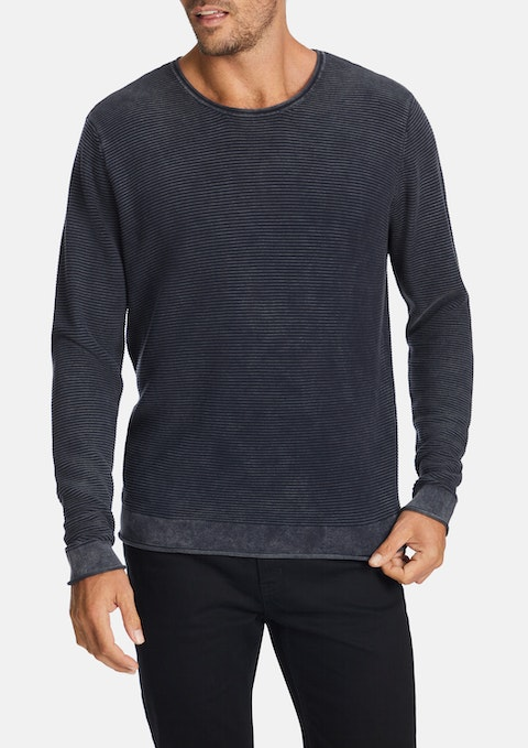 Navy Broughton Knit